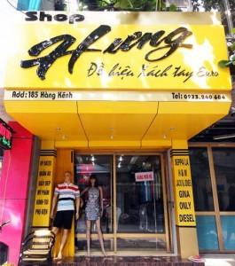 bảng quảng cáo shop thời trang nguonsanhxanh.com