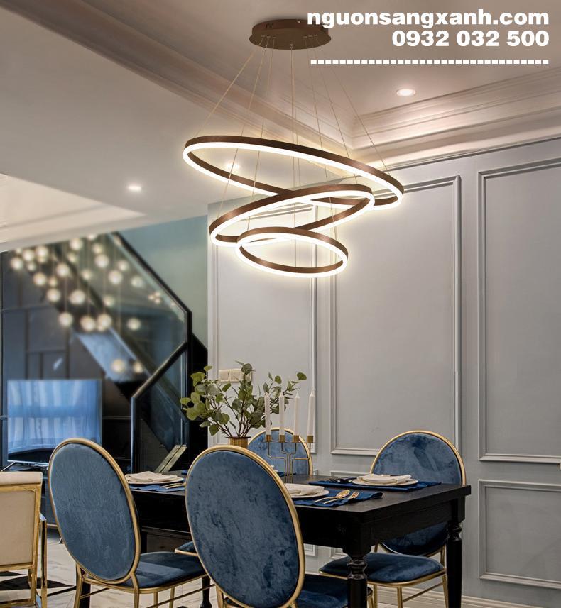 Đèn chùm phòng khách 3 vòng | nguonsangxanh.com