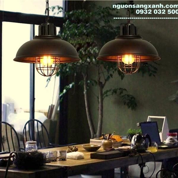 Chao đèn thả khung lưới   nguonsangxanh.com
